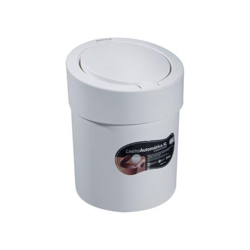 Lixeira Automática 5 L 20 x 20 x 25,6 cm - Branco Coza