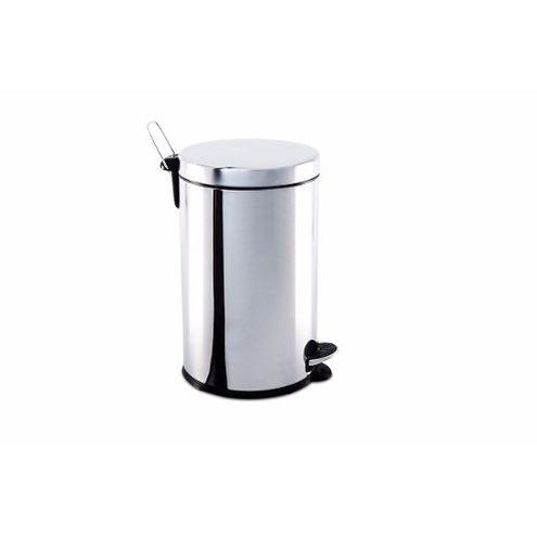 Lixeira Inox com Pedal e balde 12 litros Ø 25 x 41 cm