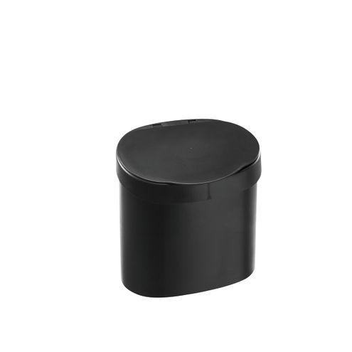 Lixeira para Pia 4 L Basic 22,8 x 15,6 x 22,4 cm - Preto Coza