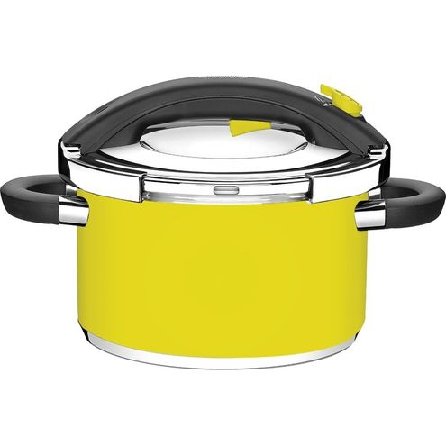 Panela de Pressão Inox Amarela Ø24Cm 6 Litros Presto Tramont