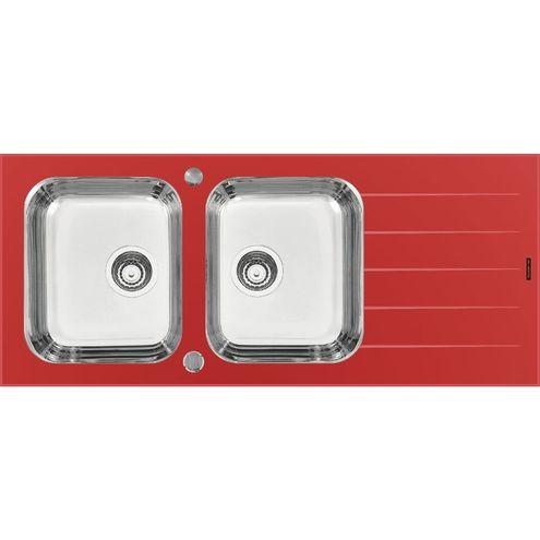 Pia Vitra 2c 34 116X50Cm Prime Vermelha Tramontina