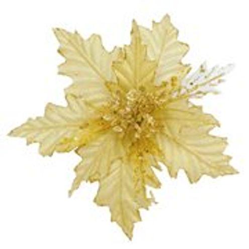 Pick Poinsetia Ouro 25 cm