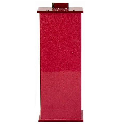 Porta Escova Decor Acrílicos Elegance Cristal Cereja 7,2cmx21,5cm