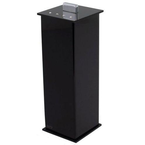Porta Escova Decor Acrílicos Elegance Cristal Preto 7,2cmx21,5cm