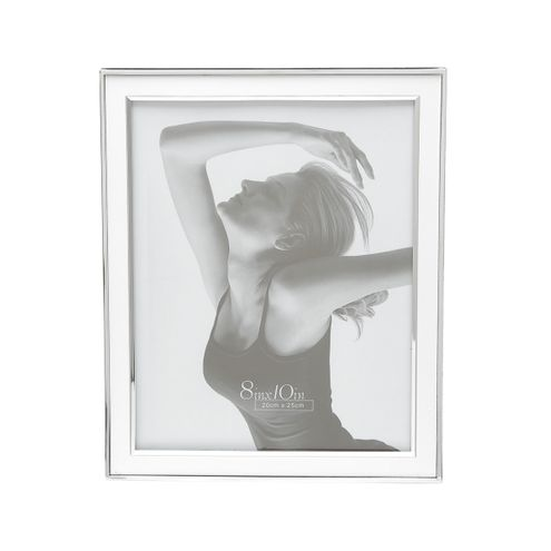 Porta-Retrato de Aço Prateado 13X18 cm