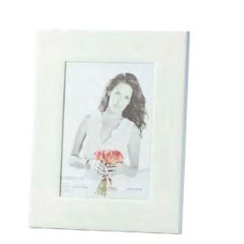 Porta Retrato de Ferro Esmaltado Branco 13X18 cm