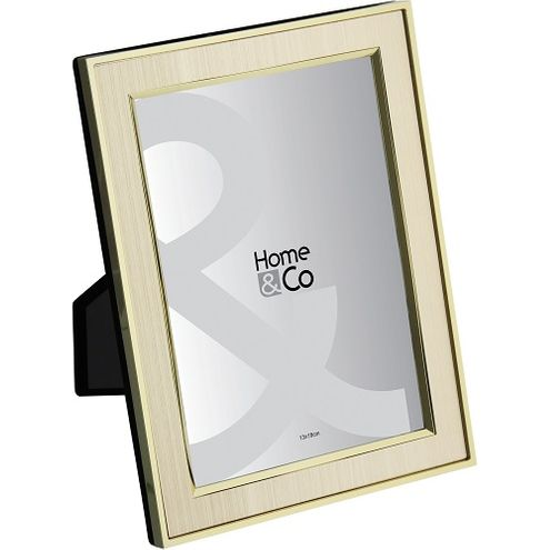 Porta Retrato Home Co Aluminio Champagne 13x18cm