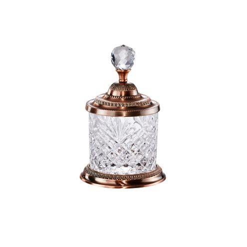 Pote Multiuso de Zamac Cristal Bronze 16,5cm