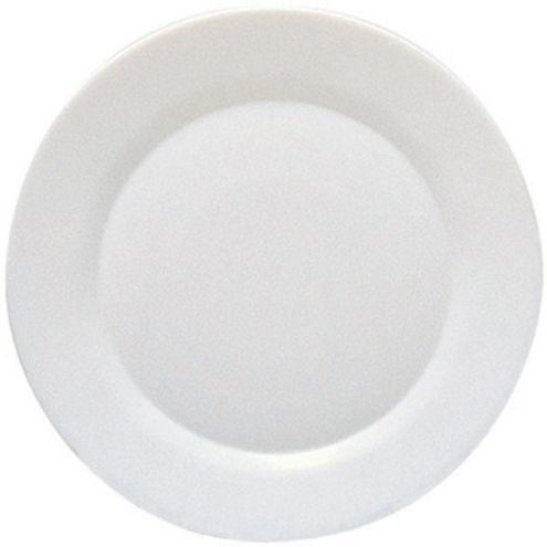 Prato Raso Branco Vidro Temp. 25 cm