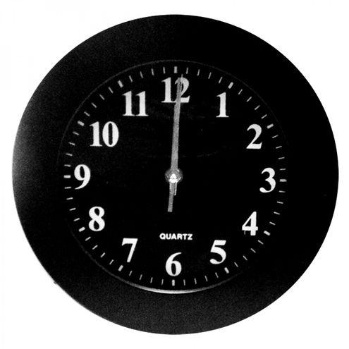 Relógio de Parede Redondo 25 cm Preto