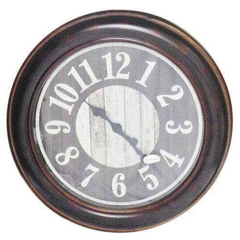 Relógio Parede Redondo Marrom 58 cm