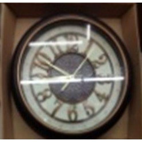 Relógio Plástico de Parede Redondo 42 cm Preto