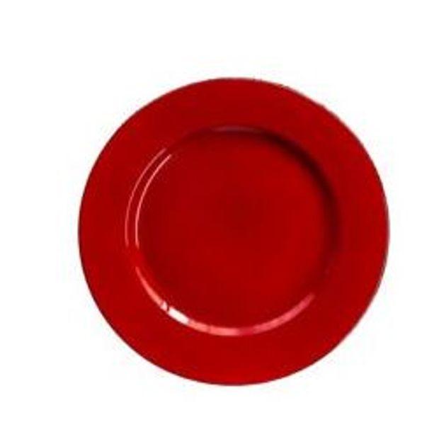 Sousplast 33 cm Red Vermelho - Sp8166