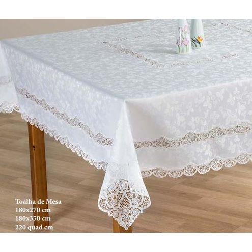 Toalha de Mesa 180 x 270 cm Branco