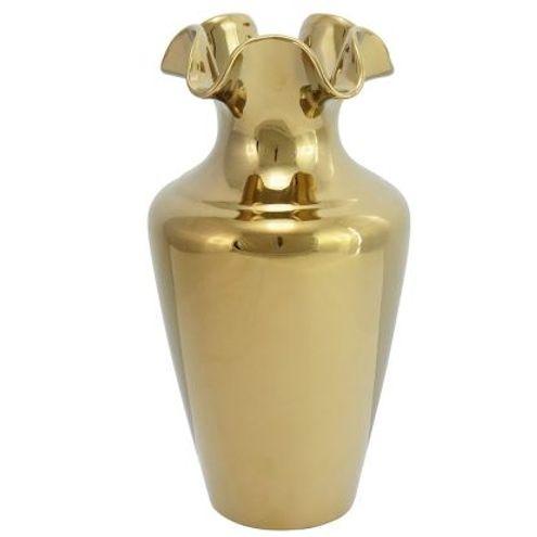 Vaso 32 cm Cerâmica Dourado