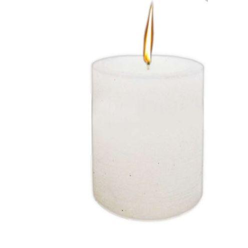 Vela Cilíndrica Branco 7 x 10 cm