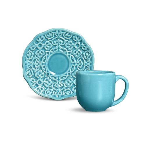 Xicara de Cafe Marrakech Azul