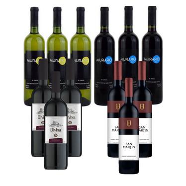 Kit 12 Vinhos Suaves por R$199