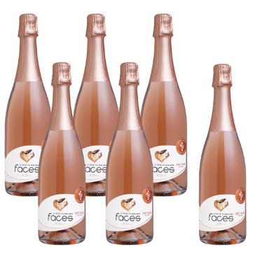 Kit Espumante Faces Brut Rose - Compre 5 Leve 6