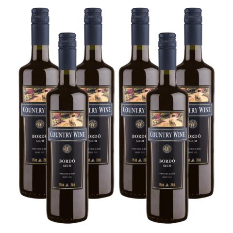 Kit Vinho Country Wine Bordô Seco
