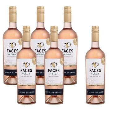 Kit Vinho Faces Rosé - Compre 5 Leve 6