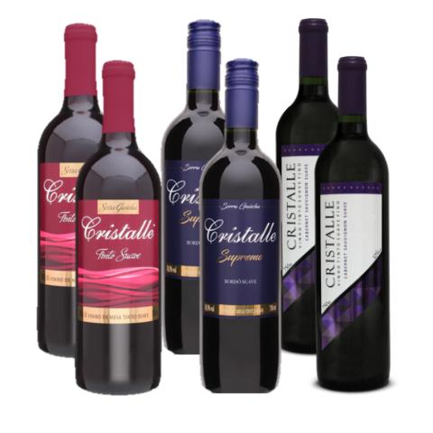 Kit Vinho Tinto Cristalle Suave