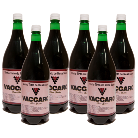 Kit Vinho Vaccaro Tinto Suave 1,45 litros