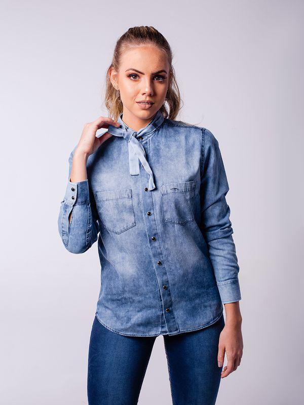 Camisa Jeans com Amarração