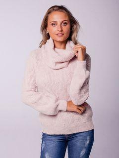 Suéter com Gola Avulsa