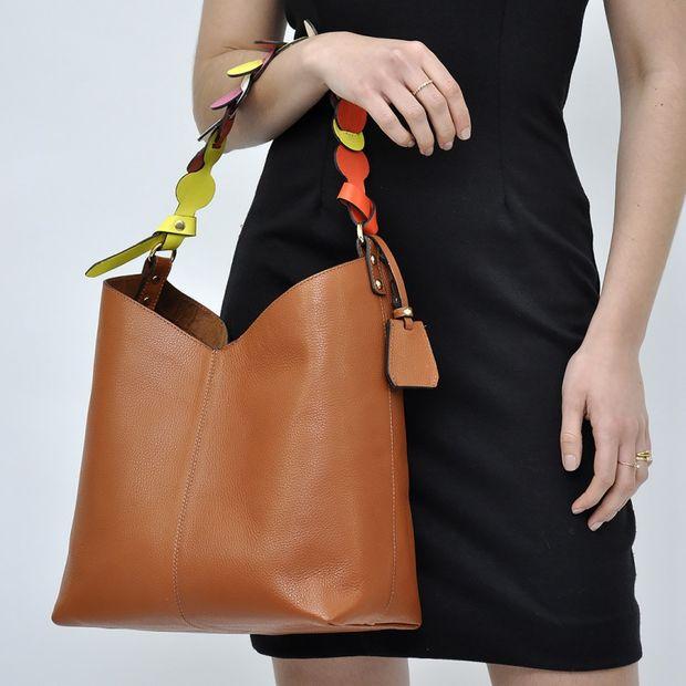 Bolsa de Couro Hobo Bag Taís