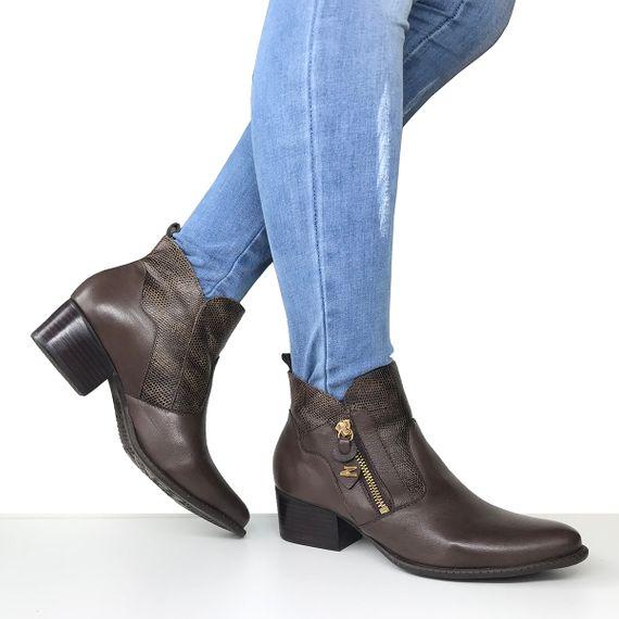 a08f7cd828 Bota feminina cano curto salto baixo Dina Mirtz