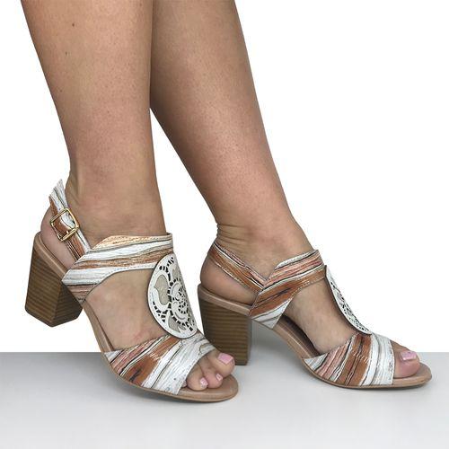 Sandália Salto Grosso em Bloco Dina Mirtz