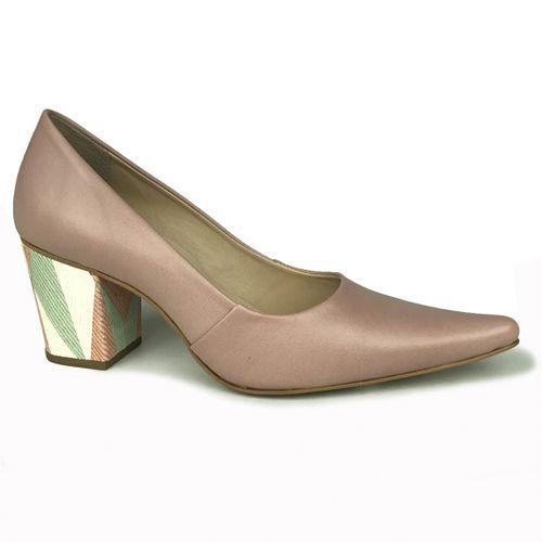 Sapato Bico Fino Salto Grosso