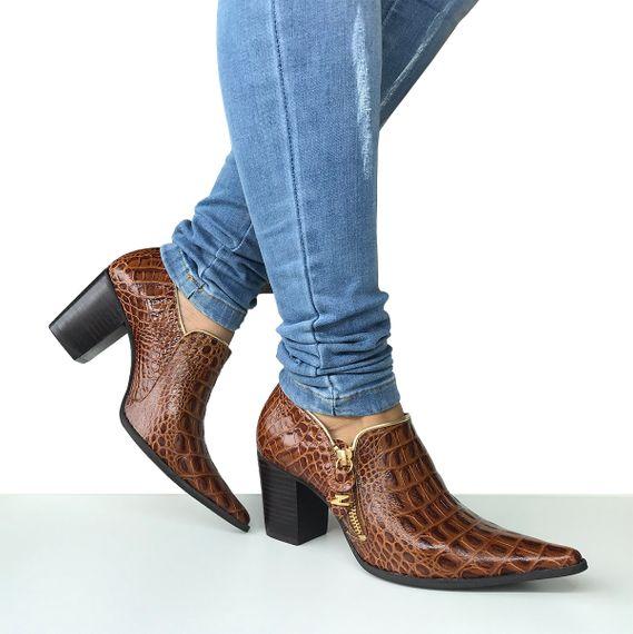 Sapato Dina Mirtz Country Croco