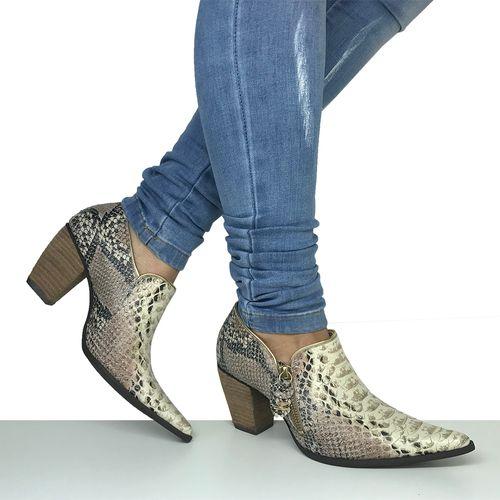 Sapato Feminino em Couro Píton Dina Mirtz