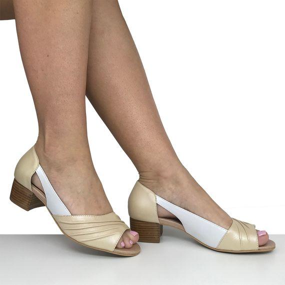 Sapato Peep Toe Salto Baixo Dina Mirtz