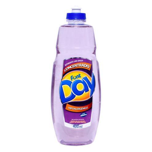 Detergente Líquido Concentrado FontDay Hipoalergênico 400ml.(Cód.316013).