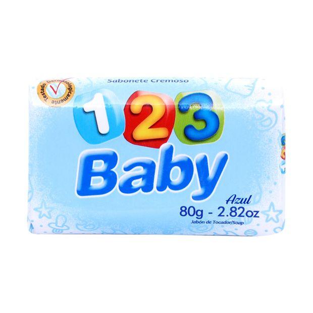 Sabonete 123 Baby Azul 80g
