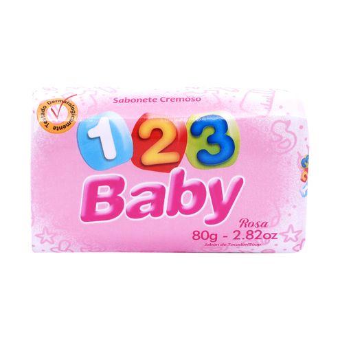 Sabonete 123 Baby Rosa 80g