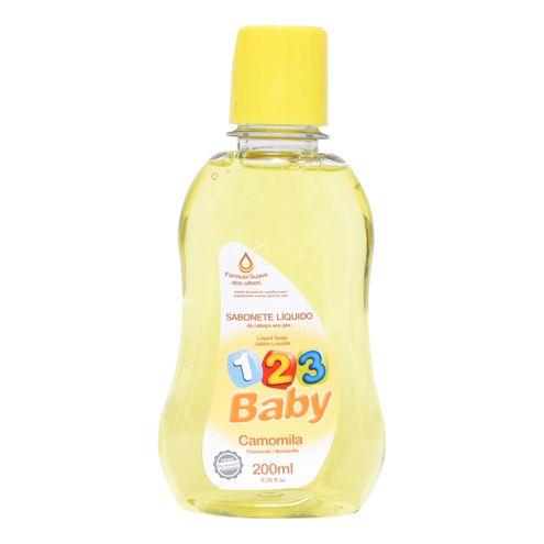 Sabonete Líquido 123 Baby Camomila 200ml.(Cód.316411).