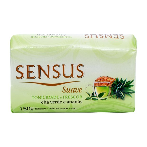 Sabonete Sensus Suave Chá Verde e Ananás 150g