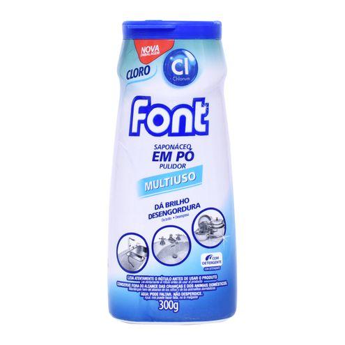 Saponáceo Em Pó Font Cloro 300g.(Cód.315125).