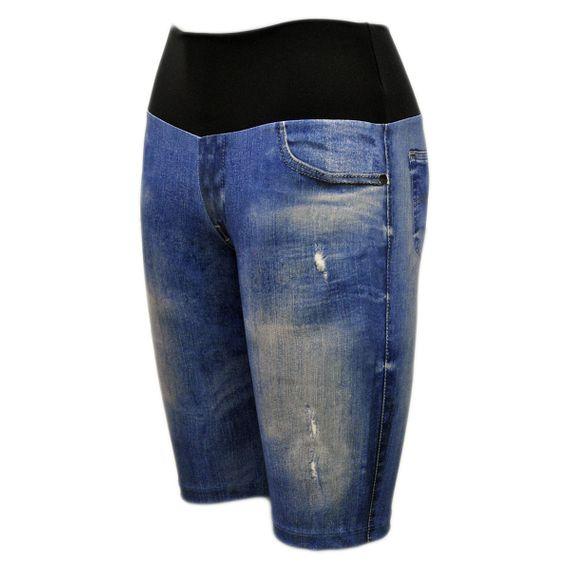 Bermuda Live Ciclista Jeans Athletic Plus