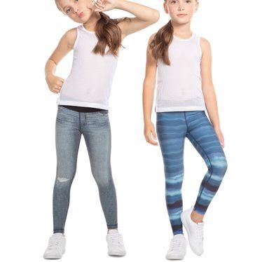 Calça Legging Live Dizzy Rever Jeans Infantil