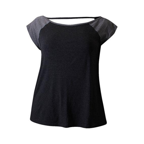 Camiseta Plus Size Way Gola Canoa