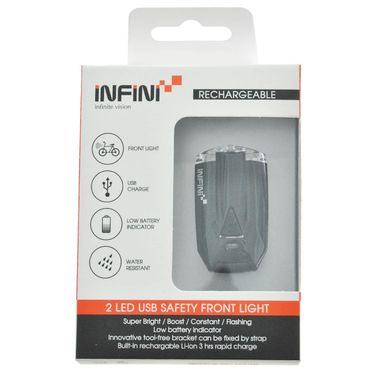 Farol Infini L260W Lava 2 Leds C/Bateria