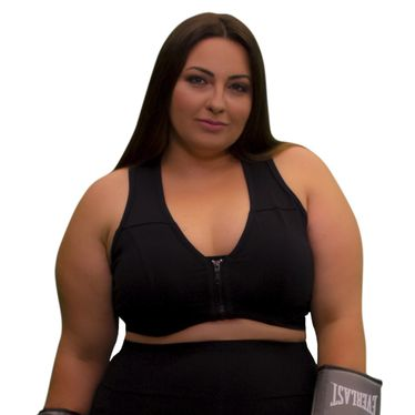 Top Plus Size Way Zíper