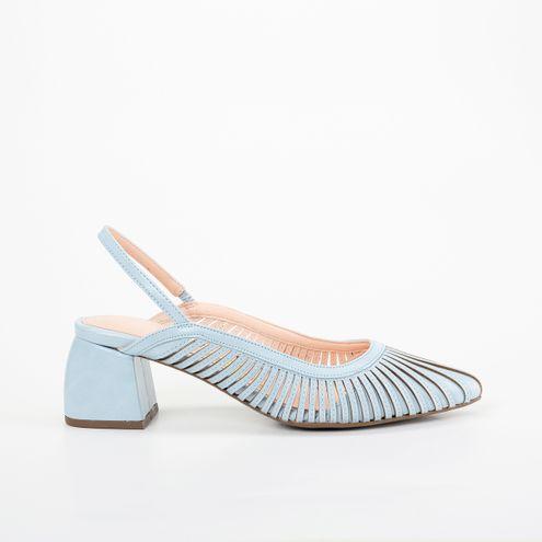 [PRÉ-VENDA] Block Heel Slinback Invoice Azul