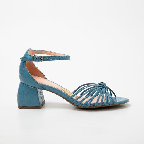 Sandália Invoice Block Heel Azul