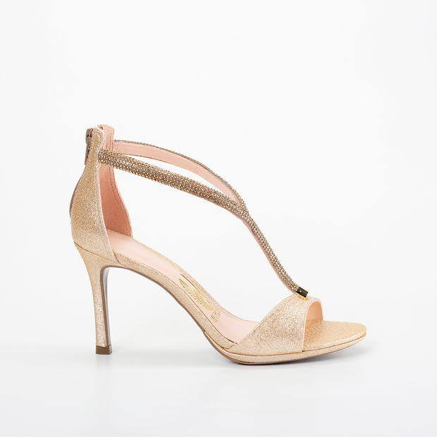 Sandália Invoice Glam Dourado